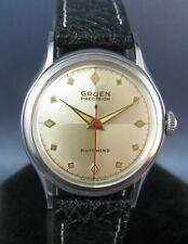 Vintage Gruen Veri-Thin Stainless Steel Bumper Automatic 17J Mens Watch 1950
