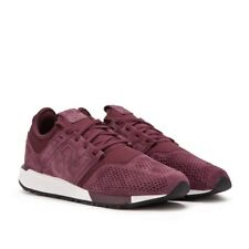 NEW BALANCE 247 MRL247LR MAROON RED WHITE SUEDE Mens sz 9.5