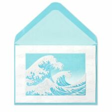 """Papyrus greeting card Any Occasion (blank) Paper-Sculpture Hokusai's """"The Wave"""""""