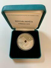 2010 Latvia 1 Lats ----  Amber  Coin----
