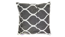 Cushion - Embroided Cotton Grey