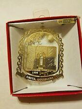 B Sterns Toyland Amite Lousiana dated 1999  Brass Christmas Ornament