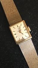 Vintage Omega Ladies Swiss Watch Wind Up 14k Gold Filled 10k GF Mesh Bracelet
