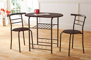 Compact Dining Set, Oval Table + 2 Chairs - Colour Options - B Grade Stock