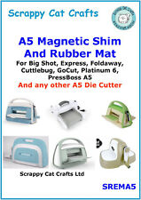 A5  Magnetic Shim & Rubber Mat for Spellbinders Sapphire by Scrappy Cat :SREMA5