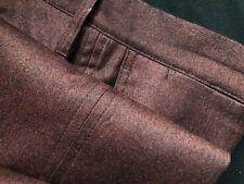 Epaulet New York Hertling Sienna Brown Rivet Slim Cut Button Fly Flannel Trouser