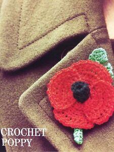 Crochet Poppy Remembrance Day Crochet Pattern