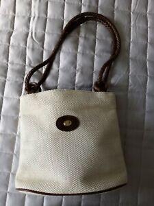 Franchetti Bond Small Ivory Handbag Made In Italy