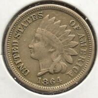 1864 Indian Head Cent 1c One Penny Copper Nickel Better Grade #10813