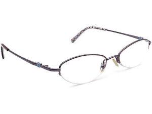 Coach Women's Eyeglasses Sherri 122 Slate Half Rim Metal Frame 49[]17 130