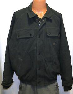 vtg Carhartt OLIVE WOVEN NYLON Jacket XL J70 Satin Quilt Lined 90s USA made