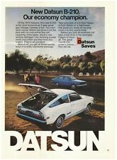 Original 1974 Datsun B-210- Our Economy Champion- Horse Riding Vintage Print Ad