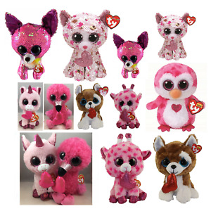 2020 Valentines TY Beanie Boos Plush Stuffed Animal Toy Regular Medium Size MWMT