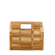 Rouven/THOR 25 Architecture BAMBOO Box Bag/Nature Wood/bambù Borsa Cesto