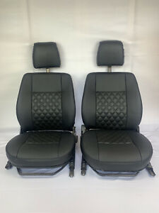Black quilted front seats Fit Land Rover Defender 90/110