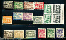 Turks & Caicus Islands Stamps 1938 set to 10/- plus 2 blocks MM