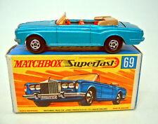 Matchbox SF Nr.69A Rolls Royce Cabrio blaumetallic dunkelgelbe Bodenplatte