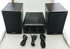 Denon D-M41 60W Micro Hi-Fi System w/ CD Player Bluetooth DM41SBK Fair Shape
