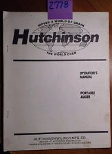 Hutchinson Century Portable Auger Owner's Operator's Manual 34416 11/87