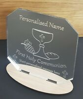 PERSONALISED 1ST HOLY COMMUNION GIFT PRESENT KEEPSAKE MIRROR PLAQUE BOY GIRL