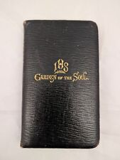"Circa 1910 Antique BIBLE MANUAL ""GARDEN OF THE SOUL"" Leather Bound Gilt Devotion"