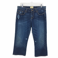 Buckle BKE Denim Distressed Jeans Cropped Women's Size 31 Stretch