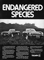 1975 Triumph TR6 Triumph Spitfire 1500 Sports Cars vintage photo print ad S1