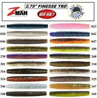 """Z-Man TRD NED RIG Finesse 2.75"""" ElaZtech Worms PICK YOUR COLOR NEW! (8 PER PACK)"""