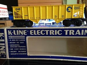 discontinued C & O 5311 hopper yellow  k-line used with box