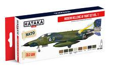 Hataka HTK-AS68 Modern Greek Air Force 1970s-Present Vol.1 Paint Set (8 Colors)