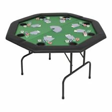 vidaXL 8-player Folding Poker Table 2 Fold Octagonal Green Game Card Tabletop