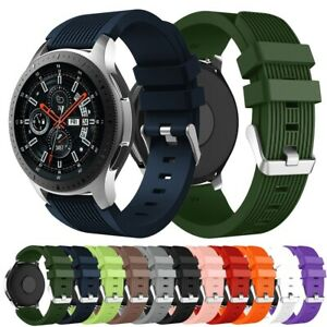20/22mm Unisex Soft Silikon Ersatzband Armband für Samsung Galaxy Watch 42/46 mm