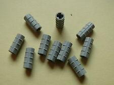 Lego 10 connecteurs gris clairs set 9736 7471 8520 8223 / axle connector ridged