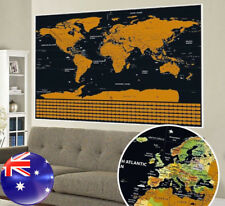 Scratch Off Map World Large Personalized Travel Poster Travel Atlas AU Local