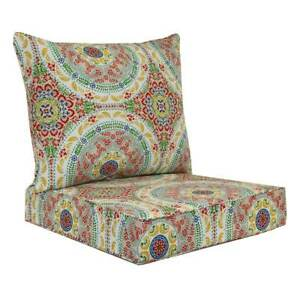 Sonoma Goods for Life Indoor/Outdoor Rever Chair Cushion Set MultiMedallion 17