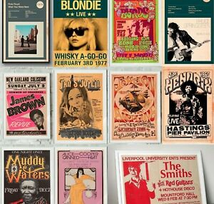 ROCK BAND Prints & Posters, Concert Posters, Gig Posters, Band Prints, Wall Art