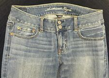 NWOT ~ AMERICAN EAGLE 2 BUTTON STRETCH ARTIST BLUE JEANS ~ SZ. 8 ~ BOOT FLARE