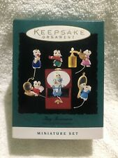 Hallmark Tiny Treasures set of 6 mice mouse Christmas ornaments 1995 - Nip