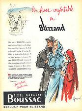 PUBLICITE ADVERTISING 124  1955  BLIZZAND   vetements de pluie imperméables