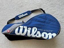 Wilson Pro Staff Six Pack Tennis Bag - Blue & White - Z6712