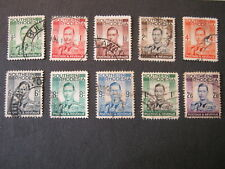 SOUTHERN RHODESIA 1937 1/2d to 2/6d (less 10d & 1/6d) SG 40-51 (less 47,49) USED