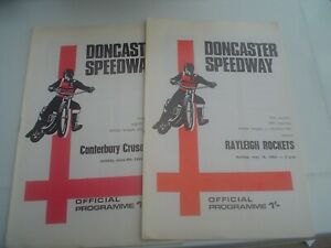 1ST SEASON DONCASTER      SPEEDWAY PROGRAMMES    1969  (2)
