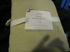 """Pottery Barn Basic Pleated Bed Skirt 14"""" Cal California King Cotton Twill New"""