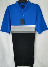 Dunning Golf Mid Stripe Polo Shirt Cotton Polyester/Spandex MSRP $89 NWT - MED