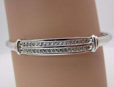 14K White Gold Diamond Bangle Bracelet 0.54 CTW