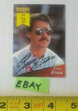 Ernie Irvan Hand Autograph Traks Premium 1994 Winston Cup NASCAR Card 66