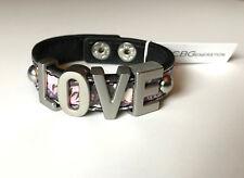Bcbgeneration New Love Affirmation Bracelet Flower Print Snap Cuff Rare Nwt