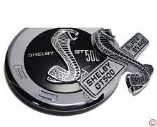 2 PCS Shelby GT500 Snake Trunk+Side Deck Lid Panel Emblem Badge Round Mustang GT