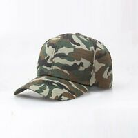 Camouflage Flat-top Patrol Cap Fatigue Hat Army Green Military Soldier Combat ##