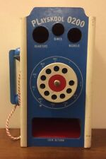 VTG RARE Old School Playskool 0200 Kids Wood Telephone Coin Return Counting Toy